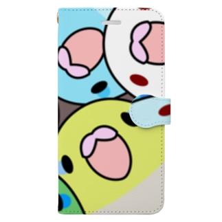 みっちりむっちり過密マメルリハさん【まめるりはことり】 Book-style smartphone case