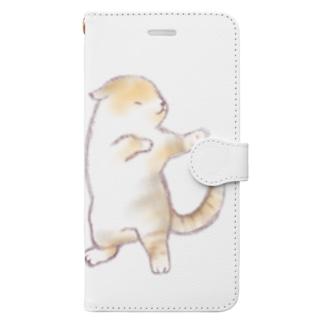 ダンシングにゃんこ Book-style smartphone case