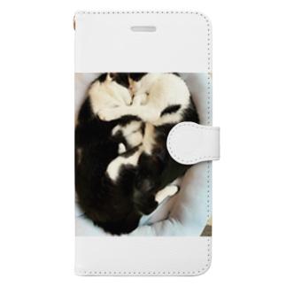 sakoのココ&ナナ Book-style smartphone case
