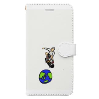スケボー Book-style smartphone case