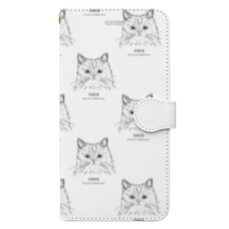COCOさん(小)[1CATS] Book-style smartphone case