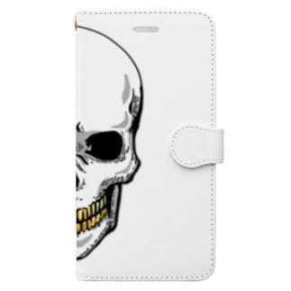 スカル【金歯】 Book-style smartphone case