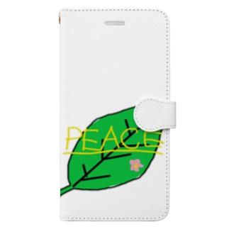 ピースな葉っぱ Book-style smartphone case