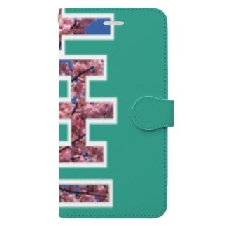 華のアイテム Book-style smartphone case