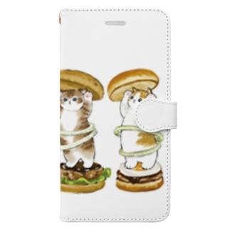 にゃんこバーガー Book-style smartphone case