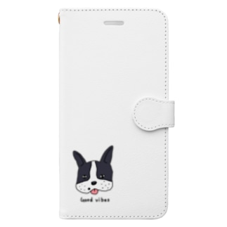 Good Vibes Dog Book-style smartphone case