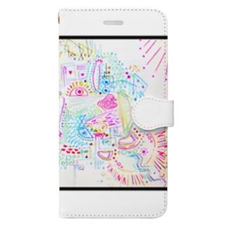 サイケデリック日光浴 Book-style smartphone case