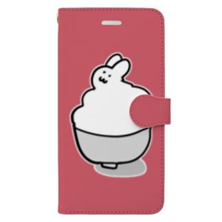 うさぎごはん(ビフォーアフター) Book-style smartphone case