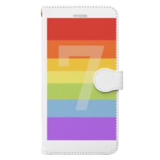 lucky rainbow! Book-style smartphone case