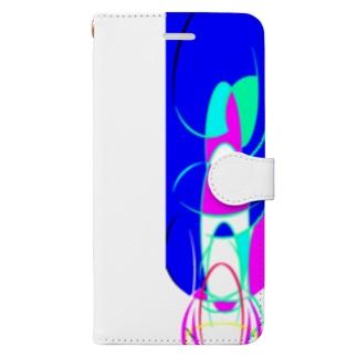 窒息死した青 Book-style smartphone case