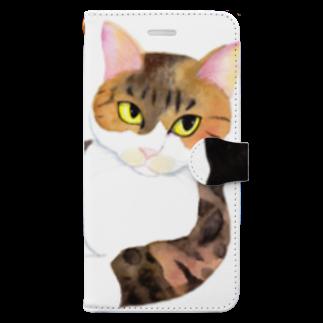 cheeのスルメの取り合い Book-style smartphone case