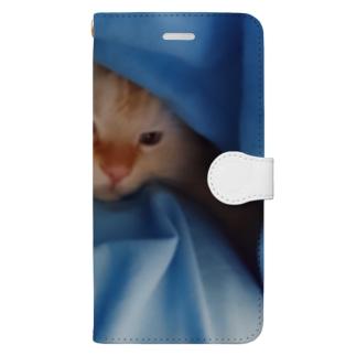 青に包まれたハク Book-style smartphone case
