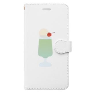 メロンソーダ Book-style smartphone case