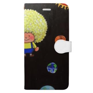 アフロ宇宙 Book-style smartphone case