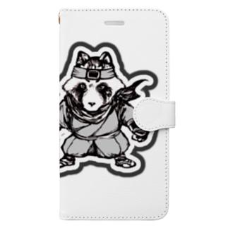 八雲斎条(黒) Book-style smartphone case