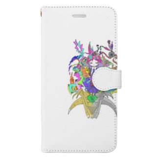 鶴百合とカラフルな人生 Book-style smartphone case
