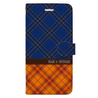 BLUE & ORANGE Book-style smartphone case