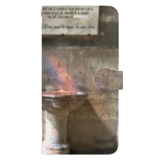 ステンドグラスから木漏れ日 Book-style smartphone case