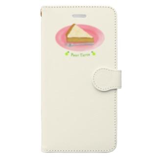 洋梨のタルトを食べよう Book-style smartphone case