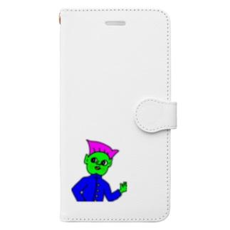 気さくな先輩 Book-style smartphone case