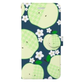 青りんご詰め合わせ Book-style smartphone case