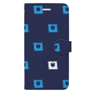 パンクリップ柄 Book-style smartphone case