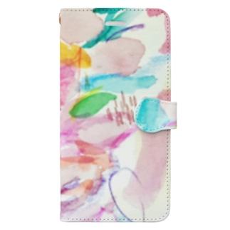 花のイロ Book-style smartphone case