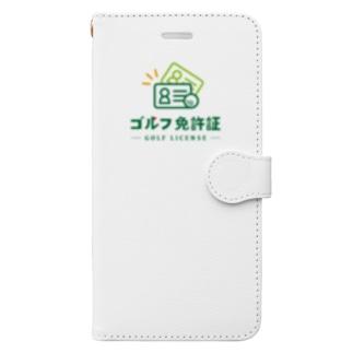 ゴルフ免許証 Book-style smartphone case