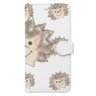 クレヨンハリネズミ Book-style smartphone case