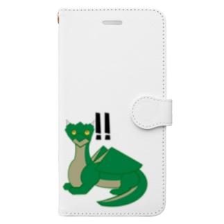 気付いたドラちゃん Book-style smartphone case