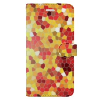 Healing mosaic Book-style smartphone case