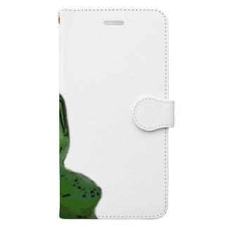 お釈迦様は緑 Book-Style Smartphone Case