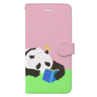 mya-mya=MIYA JUNKO's shop 02のpanda with a book Book-style smartphone case