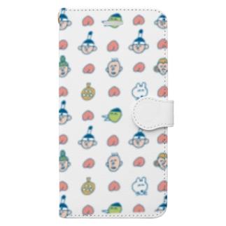 プチプチMOMOTARO Book-style smartphone case