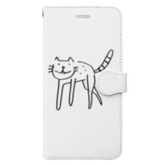 足長ねこ Book-style smartphone case