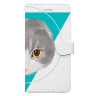 Love cats-スコティッシュフォールド- Book-style smartphone case