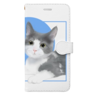 Love cats-マンチカン- Book-style smartphone case