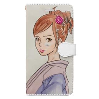毒吐く女子 Book-style smartphone case