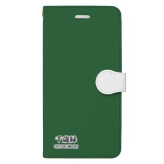 和色コレクションVer-2:千歳緑(ちとせみどり) Book-style smartphone case