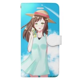 眩しい夏の日 Book-style smartphone case