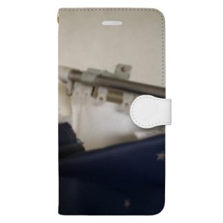 後醍醐天皇の子孫のカーテン、指を添えて Book-style smartphone case
