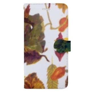 落ち葉 Book-style smartphone case