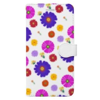 花花スマホケース Book-style smartphone case