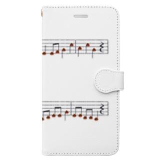 栗の楽譜 Book-style smartphone case