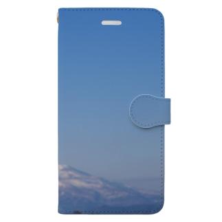 鳥海山と空 Book-style smartphone case