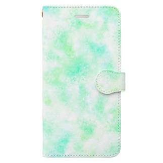 雪の結晶 Book-style smartphone case
