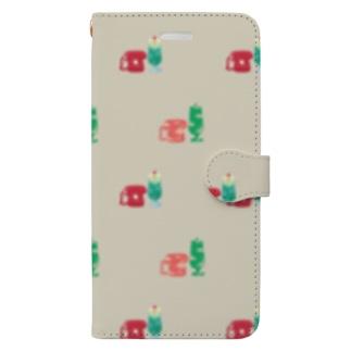クリームソーダとダイヤル式でんわ Book-style smartphone case
