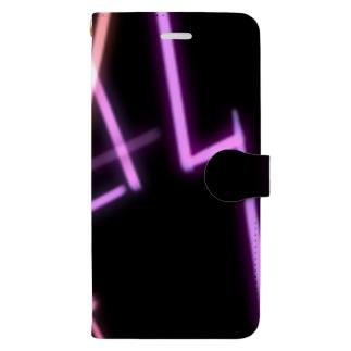 ピンクライト Book-style smartphone case