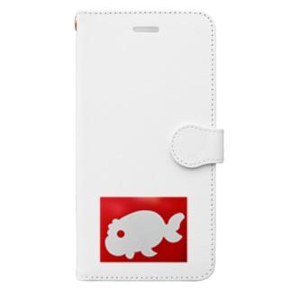 金魚一道オリジナル Book-style smartphone case