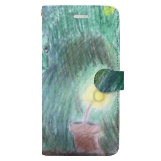 色を見つけたカメレオン  Book-style smartphone case